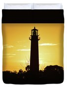 Jupiter Lighthouse Golden Sunrise Duvet Cover