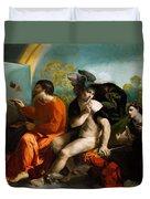 Jupiter Mercury And Virtue 1524 Duvet Cover