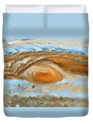 Jupiterian Storm Of The Century Duvet Cover