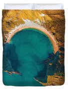 Jurassic Coast From The Air Duvet Cover