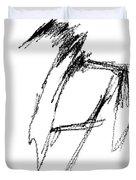 Just A Horse Sketch Duvet Cover