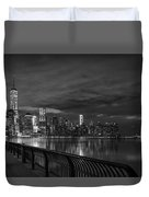 Just Across The River In Bandw Duvet Cover