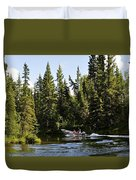 Just Around The River Bend Duvet Cover