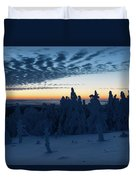 Just Before Sunrise On The Brocken In The Harz Mountains Duvet Cover