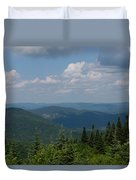 Just Climb Mountains And Breathe Deeply Duvet Cover