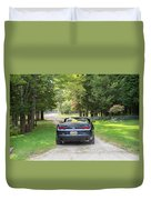 Just Married In The Car Duvet Cover