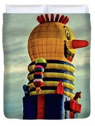 Just Passing Through  Hot Air Balloon Duvet Cover by Bob Orsillo