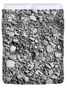Just Rocks - Black And White Duvet Cover