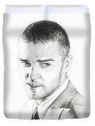 Justin Timberlake Drawing Duvet Cover