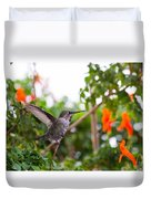 Juvenile Anna's Hummingbird Warm-up Duvet Cover