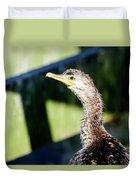 Juvenile Cormorant Profile Duvet Cover