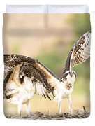 Juvenile Osprey Testing Their Wings Duvet Cover
