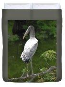 Juvenile Wood Stork Duvet Cover