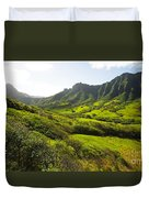 Kaaawa Valley And Kualoa Ranch Duvet Cover by Dana Edmunds - Printscapes