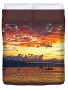 Ka'anapali Sunset Fire Duvet Cover
