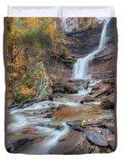 Kaaterskill Falls Autumn Portrait Duvet Cover