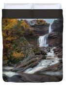 Kaaterskill Falls Autumn Square Duvet Cover