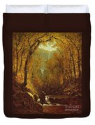 Kaaterskill Falls Duvet Cover by Sanford Robinson Gifford