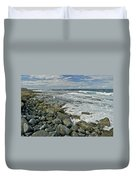 Kaena Point Shoreline Duvet Cover