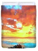 Kailua-kona Sunset Duvet Cover