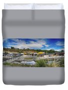 Kaitoura Nz Panorama Duvet Cover