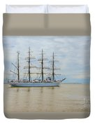 Kaiwo Maru On The Way To The Open Ocean. Duvet Cover