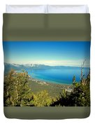 Lake Tahoe From The Top Of Heavenly Gondola Duvet Cover