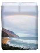 Kalalau Beach Rainbow Duvet Cover