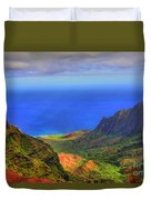 Kalalau Valley Duvet Cover