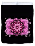Kaleidoscope 1 With Black Flower Framing Duvet Cover