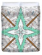 Kaleidoscope Of Winter Trees Duvet Cover