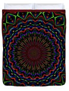 Kaleidoscoped Fireworks Duvet Cover