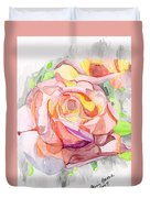 Kaleidoscopic Rose Duvet Cover