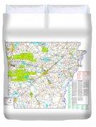 Kamkam Arkansas Highway Map  Duvet Cover