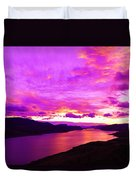 Kamloops Lake At Dawn Duvet Cover