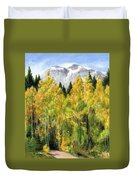 Kananaskis Autumn Morn Duvet Cover