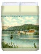 Kanawha Bridge Duvet Cover