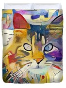 Kandinsky Cat Duvet Cover