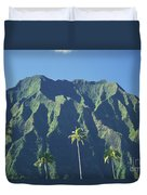 Kaneohe Palm Duvet Cover