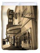Kansas City - Gem Theater Sepia 2 Duvet Cover
