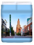 Kansas City Power And Light District Duvet Cover