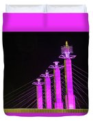 Kansas City Pylons In Pink Duvet Cover