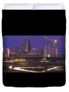 Kansas City Skyline 1998 Duvet Cover