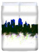 Kansas City Skyline Blue  Duvet Cover