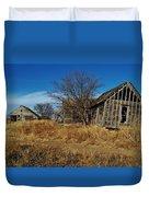 Kansas Farmhouse And Barn Duvet Cover