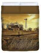 Kansas Pioneer Homestead On The Plains Duvet Cover