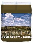 Kansas Travel Image Four Duvet Cover