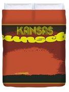Kansas Travel Image Nine Duvet Cover