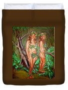 Karen M Times Two At Dragoncon Duvet Cover
