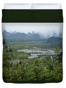 Karst Landscape Of Guangxi Duvet Cover